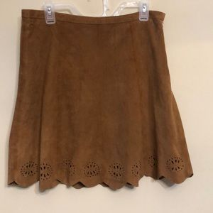 Ivanka Trump Suede Skirt